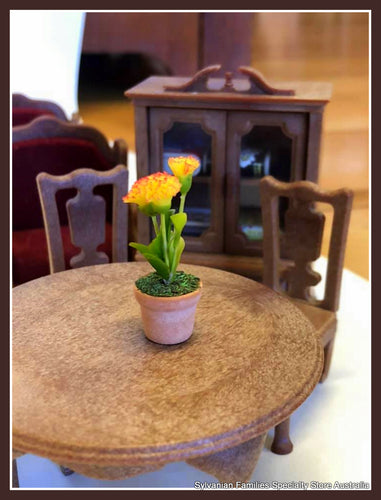 Miniature dollshouse clay flower yellow For Sylvanian Families