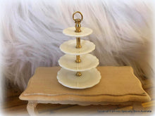 Dollshouse miniature ceramic cake plate 4 tiers