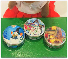 Dollhouse miniature christmas cookie tins vintage