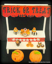 Dollshouse miniature halloween stall market
