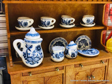 Blue Coffee Set - 15 piece set