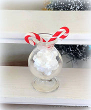 Christmas marshmallows in vase candy canes