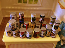 Miniature dolls house cans of food tins
