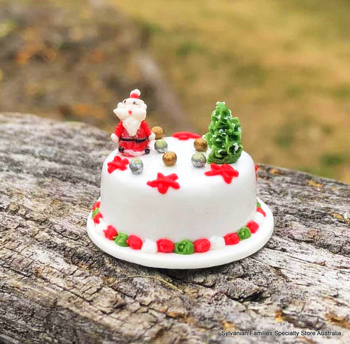 Dollshouse miniature Santa cake Christmas cake