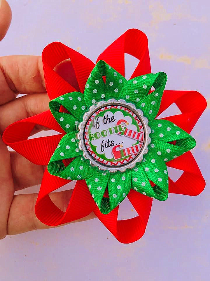 Elf boots Christmas hair accessory