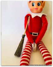 Christmas elf good house keeping broom