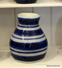 Blue Striped Vase (Style 1) - Miniature