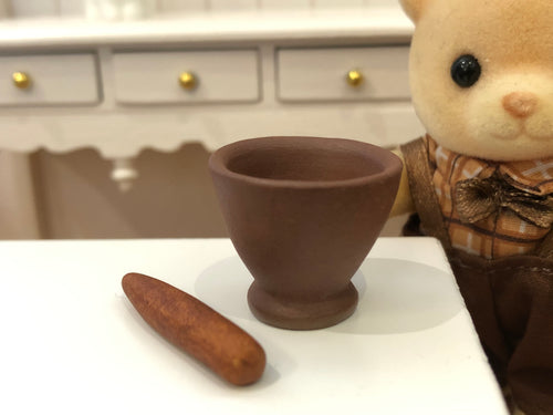 Dollshouse Miniature mortar and pestle accessory