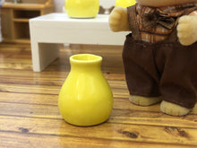 Dollshouse miniature yellow vaseD