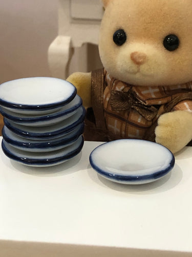 Sylvanian bear set of plates