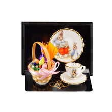 Easter Basket and Peter Rabbit porcelain set - Miniature