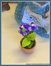 Miniature dollshouse purple flower plant potplant Sylvanian