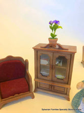Miniature dollshouse purple flower plant potplant Sylvanian Urban Life furniture