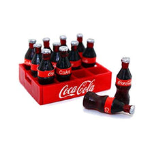 Coca cola miniature bottles 12 in crate ideal