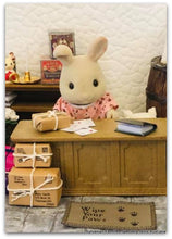 Sylvanian FAmilies Post office scene parcels and letters