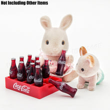 Coca cola miniature bottles 12 in crate ideal for  Sylvanian Families