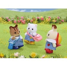 Sylvanian Families Nursery School Trio in uniform