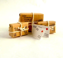 Dollshouse miniature 3 parcels wrapped envelopes post office shop