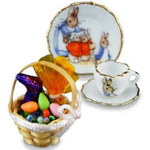 Reutter Porcelain Miniature Easter Peter rabbit set Germany