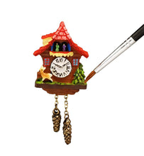 Dollhouse miniature cuckoo clock red roof German