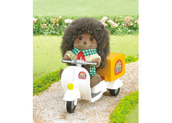 Sylvanian Families Pizza Delivery Set with Hedgehog Driver