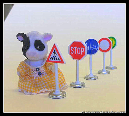 Siku traffic signs stop sign Cow Sylvanian Families