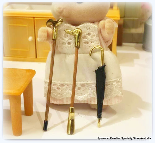 Sylvanian Families walking stick brass