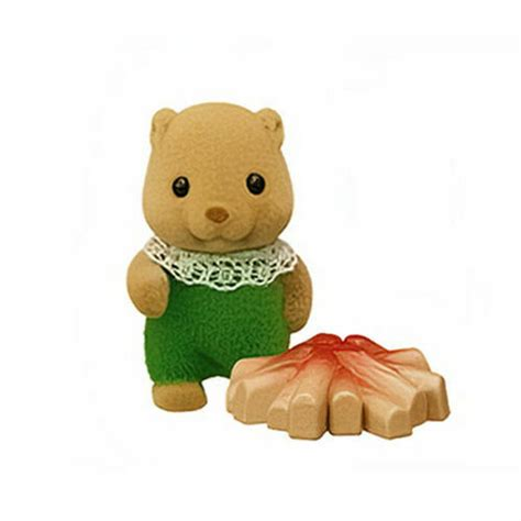 Sylvanian Families Baby Beaver with accessory