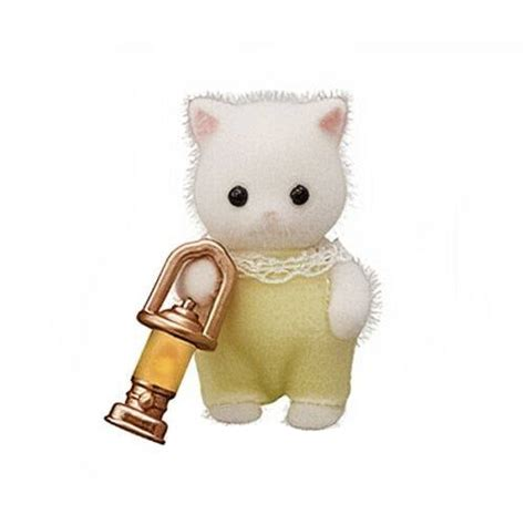 Sylvanian Families Baby Persian cat with accessory