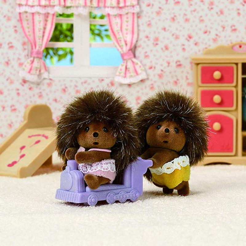 Sylvanian Families hedgehog twins Bramble family