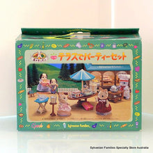 Sylvanian Families Party on the Terrace - Japanese version with costumes - RARE