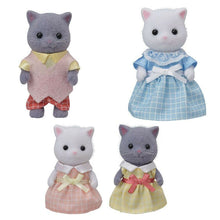 Sylvanian Families Gray and White Persian Cat Family