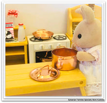 Sylvanian Families Kitchen Copper pots