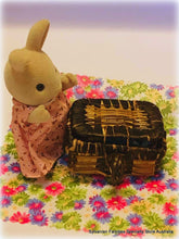 dollshouse miniature picnic basket Sylvanian figure