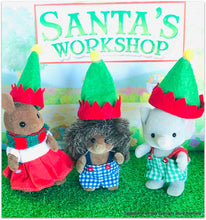 Miniature Dollshouse Elf hats Sylvanian Families santa's workshop
