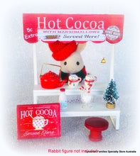 Christmas Cocoa Stand - 10 pieces including stand