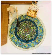 Sylvanian FAmilies home round blue rug
