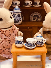 Sylvanian Families and blue china tea set