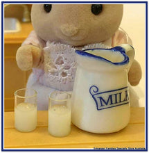 Milk jug and glasses of milk - miniature