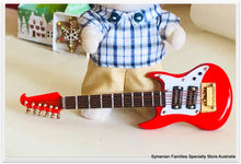 Miniature 9cm red guitar
