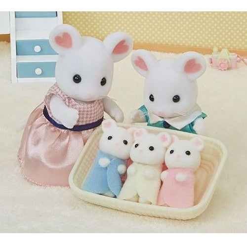 Sylvanian Families Marshmallow Mice triplets