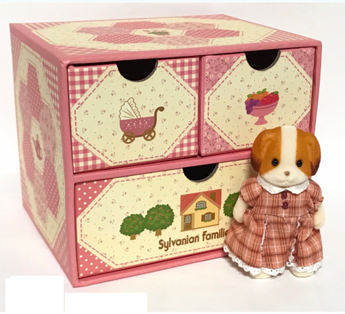 Sylvanian Families JP Fan Club Chiffon Dog dresser exclusive