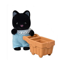 Sylvanian Families Shopping Series Blind bags tuxedo cat and shopping trolley