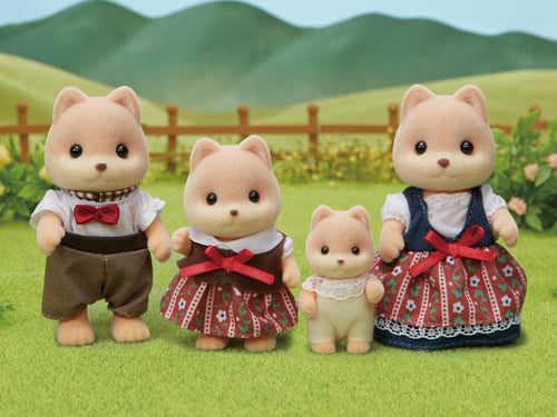 Sylvanian Families Caramel Dog Family latest