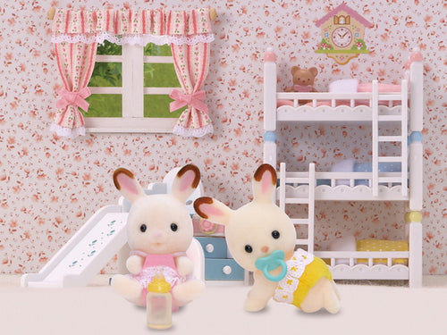 Sylvanian Families Chocolate Rabbit Twins SF 5080