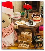 Sylvanian Families Christmas scene parcels and presents