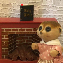 Sylvanian Families Meerkat Mother with Bible on Mantle piece