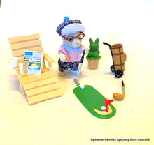 Sylvanian Families Grandfather at Home Golfing Set With Tailbury Dog