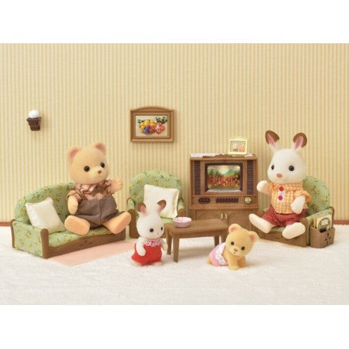 Beau Sylvanian Families Living Room With TV Set   NEW In!