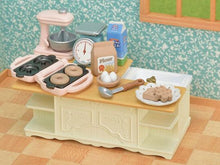Sylvanian Families Kitchen Island set white kitchen furniture